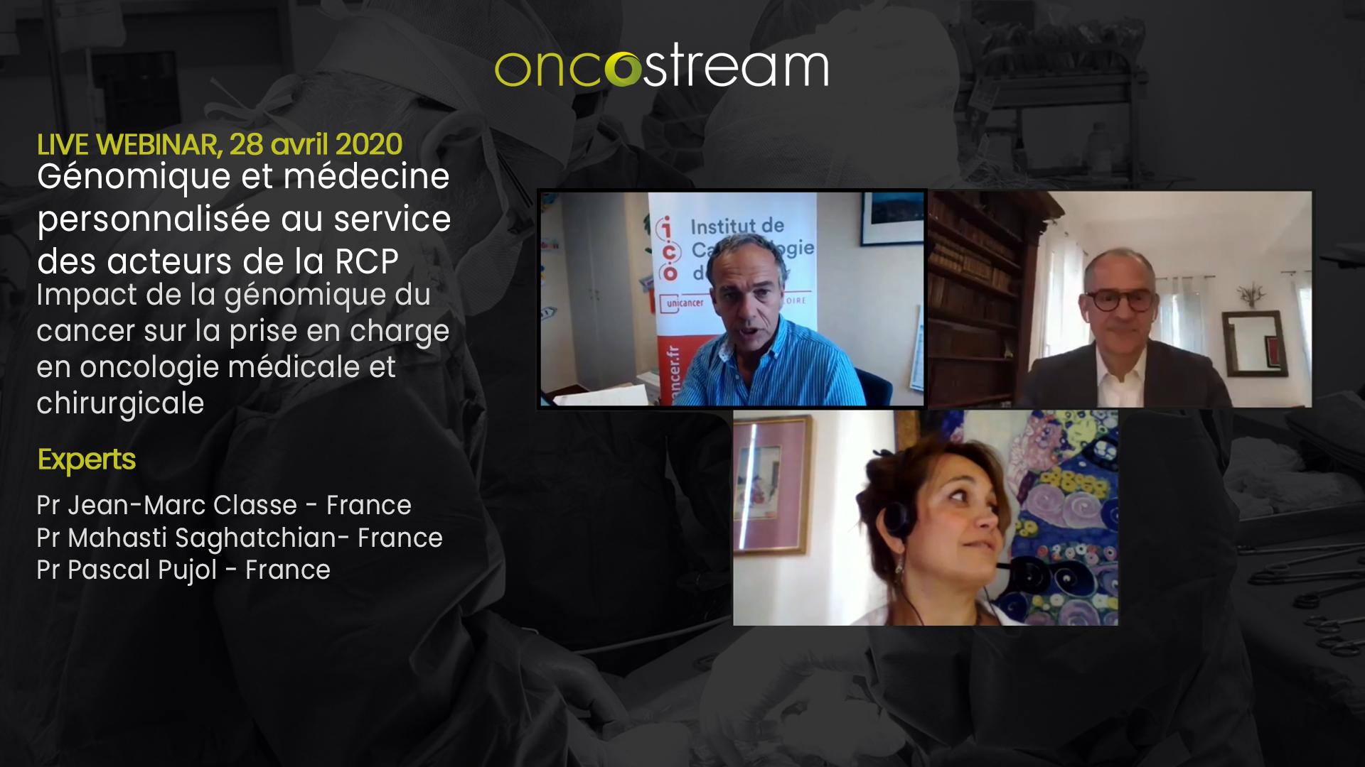 Génomique et médecine personnalisée au service des acteurs de la RCP