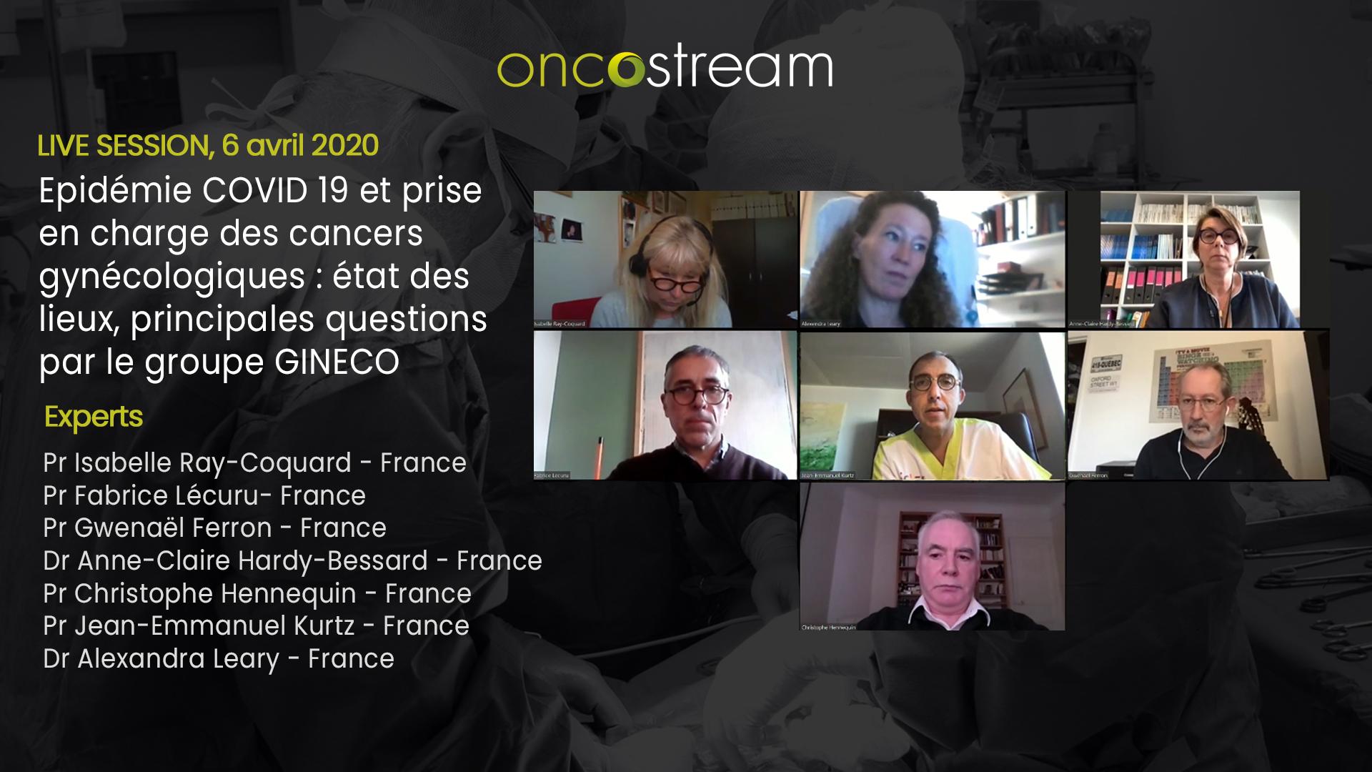 Epidémie COVID 19 et prise en charge des cancers gynécologiques : état des lieux, principales questions par le groupe GINECO
