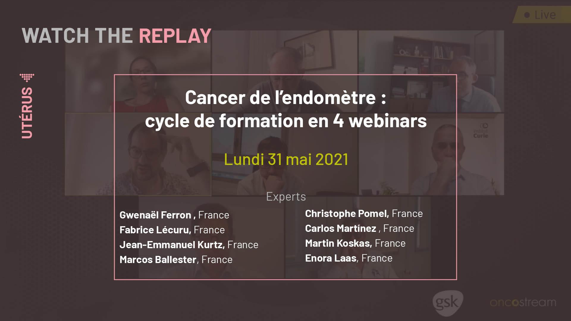 Cancer de l'endomètre : cycle de formation en 4 webinars
